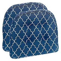 Klear Vu Essentials Gripper Trellis XL Chair Pads in Blue