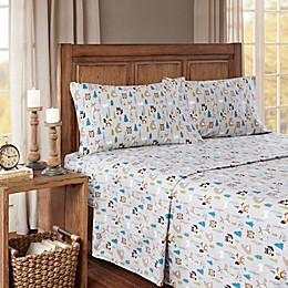 True North by Sleep Philosophy Forest Animals Cozy Flannel Sheet Set