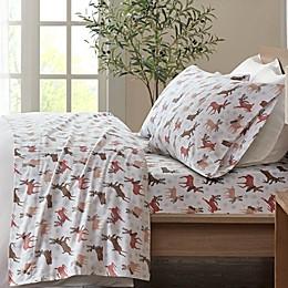 True North by Sleep Philosophy Reindeer Cozy Flannel Sheet Set