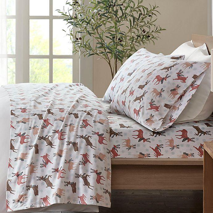 True North By Sleep Philosophy Reindeer Cozy Flannel Sheet Set Bed Bath Beyond