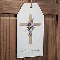 Easter Blessing Cross Personalized Wall Tag