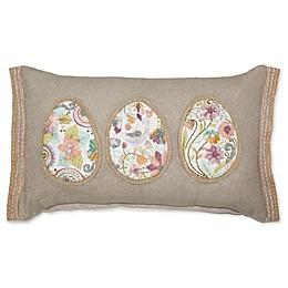 Egg Hunt Patchwork Oblong Throw Pillow