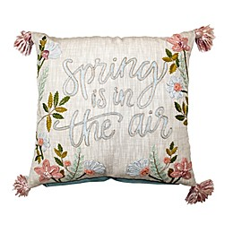 """""""Spring is in the Air"""" Square Throw Pillow"""