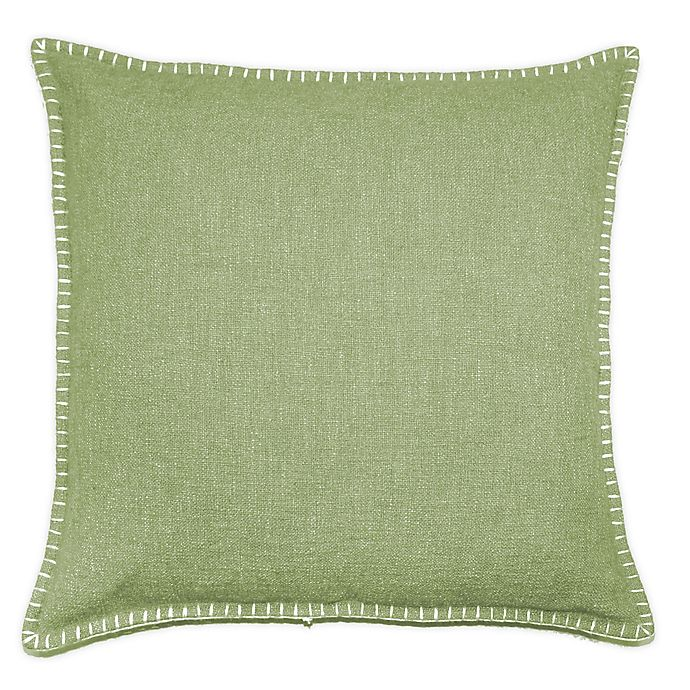 Alternate image 1 for Solid Stitch Textured Square Throw Pillow
