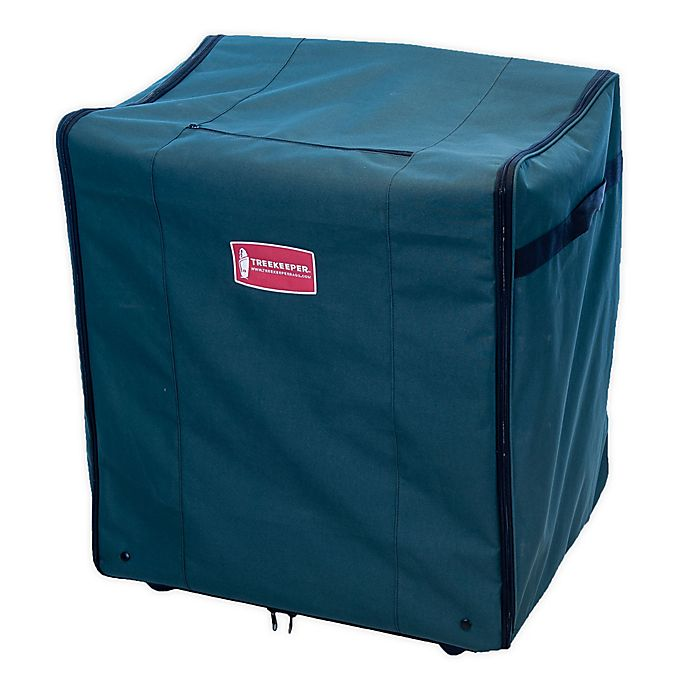 Alternate image 1 for TreeKeeper™ 5-Tray Adjustable Telescoping Ornament Storage Bag in Green