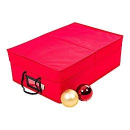 Santa's Bags 2-Tray 3-Inch Ornament Storage Box in Red