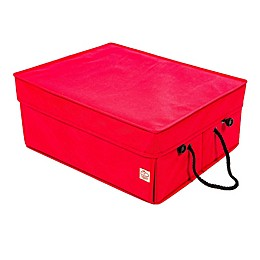 Santa's Bags Ribbon Storage Box in Red