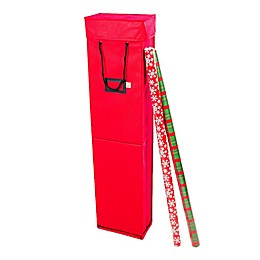 Santa's Bags Wrapping Paper Storage Box in Red