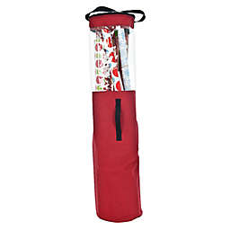 Santa's Bags Wrapping Paper Storage Bag in Red