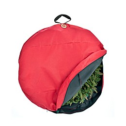 Santa's Bags Wreath Storage Bag with Direct Suspend in Red