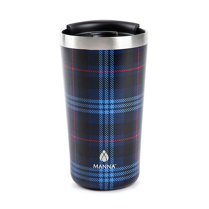 Alternate image 1 for Manna™ 18 oz. Ranger Pint Travel Mug in Blue Plaid