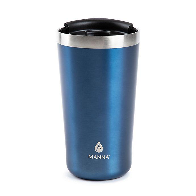 Alternate image 1 for Manna™ 18 oz. Ranger Pint Travel Mug in Blue Matte Metallic