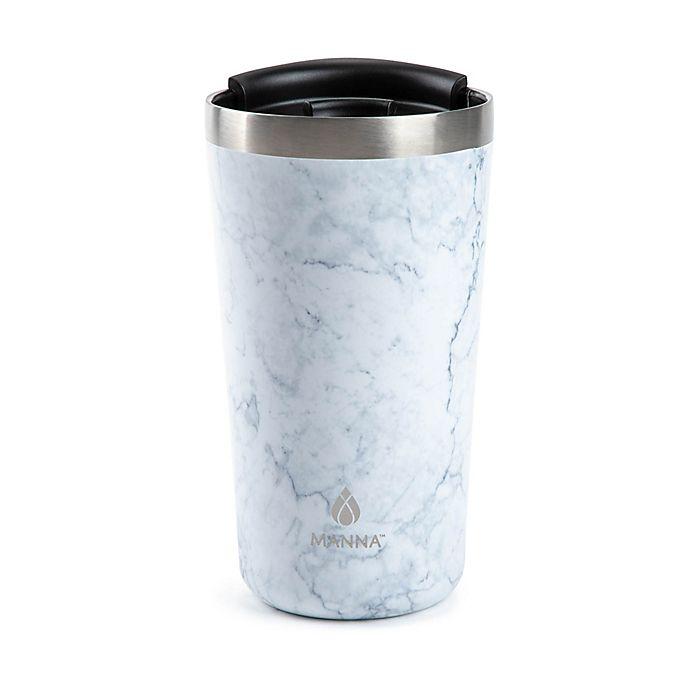 Alternate image 1 for Manna™ 18 oz. Ranger Pint Travel Mug in White Marble