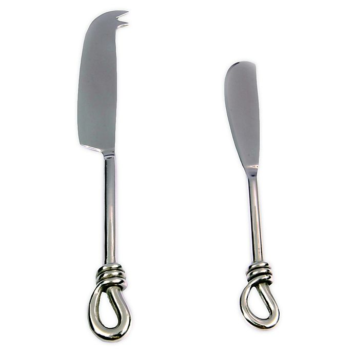 Alternate image 1 for Knot 2-Piece Cheese Knife and Spreader Set