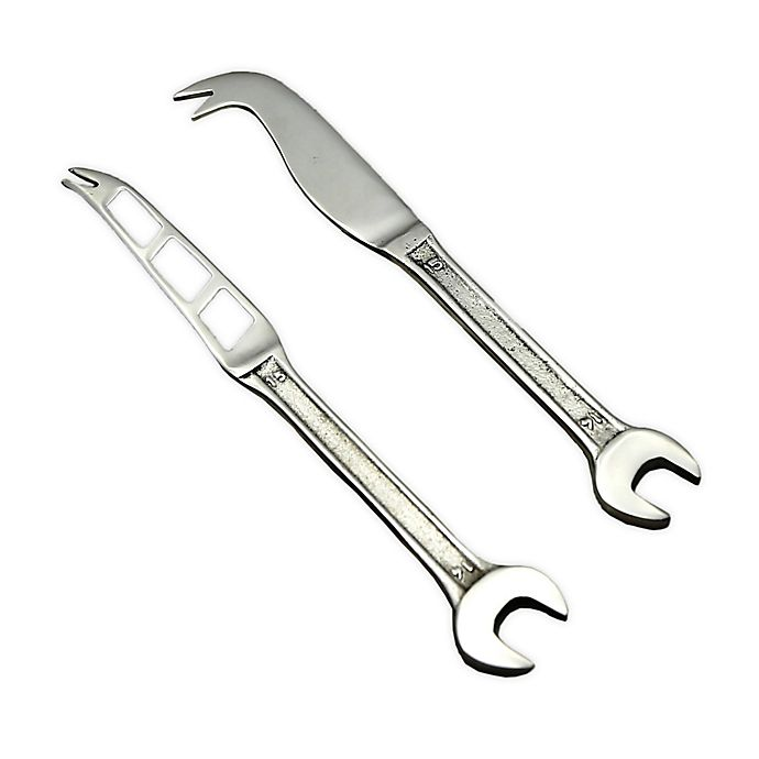 Alternate image 1 for Spanner 2-Piece Cheese Knife and Spreader Set in Silver