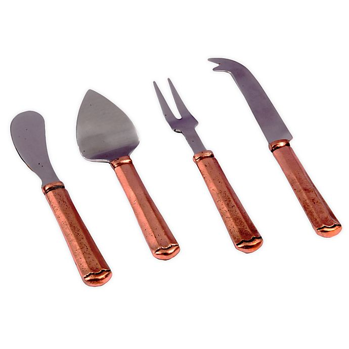 Alternate image 1 for Maharaja 4-Piece Cheese Service Flatware in Copper