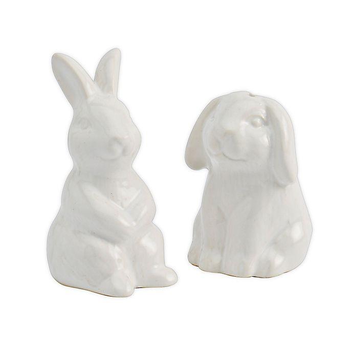 Alternate image 1 for Modern Farmhouse  Bunny Salt and Pepper Shakers in White