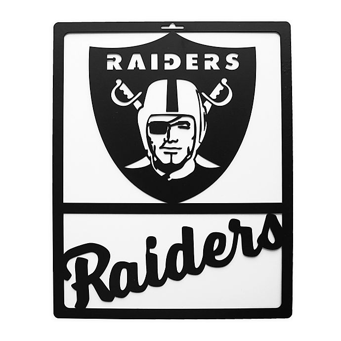 Nfl Oakland Raiders Metal Team Sign