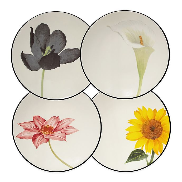 Alternate image 1 for Noritake® Colorwave Floral Appetizer Plates in Graphite (Set of 4)