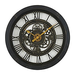 Sterling & Noble 24-Inch Antique Gear Wall Clock
