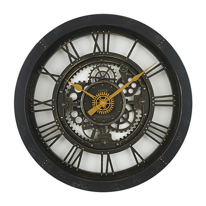 Alternate image 1 for Sterling & Noble™ 24-Inch Antique Gear Wall Clock