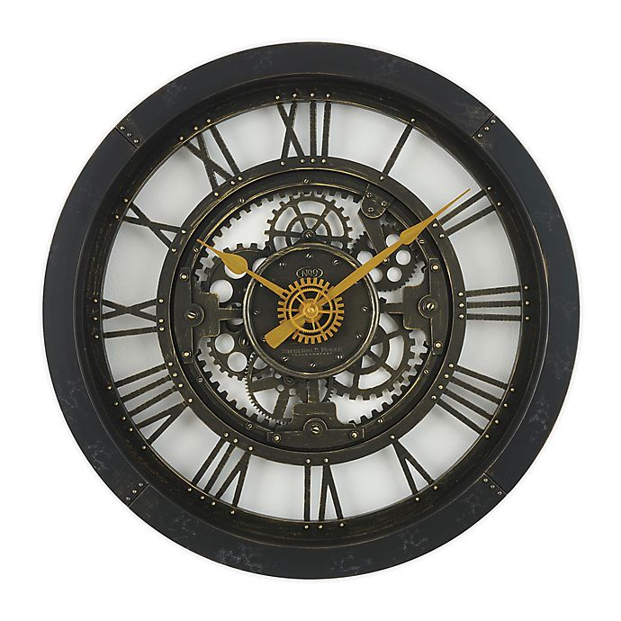 Sterling Noble 24 Inch Antique Gear Wall Clock Bed Bath And Beyond Canada