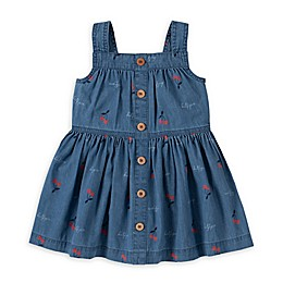 Tommy Hilfiger® 2-Piece Cherry Print Denim Dress and Diaper Cover Set