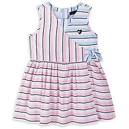 Tommy Hilfiger® 2-Piece Striped Dress and Diaper Cover Set in Blue