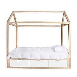 Nico & Yeye Domo Zen Full Canopy Bed with Drawers