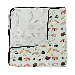 Loulou Lollipop Sushi Deluxe Muslin Baby Quilt