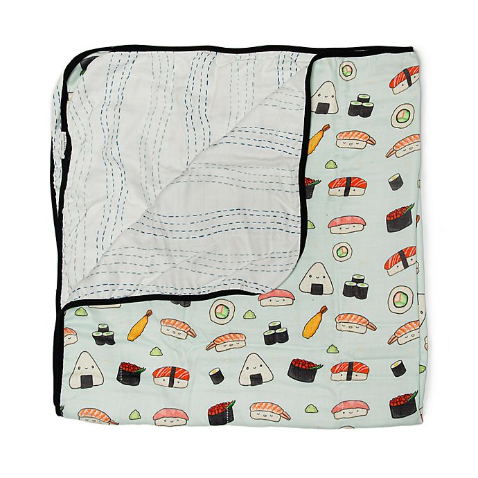 Alternate image 1 for Loulou Lollipop Sushi Deluxe Muslin Baby Quilt