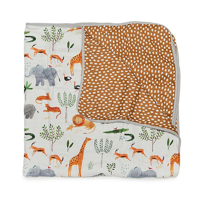 Alternate image 1 for Loulou Lollipop Safari Deluxe Muslin Baby Quilt