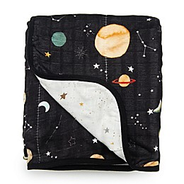 Loulou Lollipop Planets Deluxe Muslin Baby Quilt