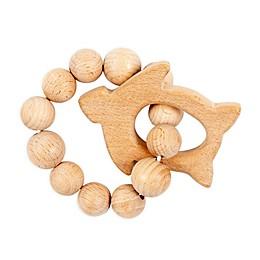 Bebe Au Lait® Seat Turtle Wooden Teething Ring in Tan