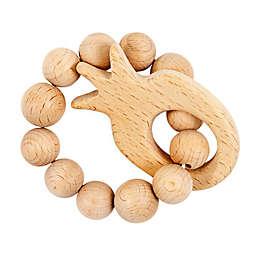 Bebe Au Lait® Pineapple Wooden Teething Ring in Tan