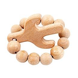 Bebe Au Lait® Cactus Wooden Teething Ring in Tan