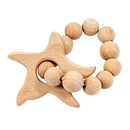Bebe Au Lait® Starfish Wooden Teething Ring in Tan