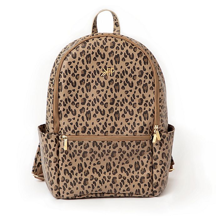 Alternate image 1 for Freshly Picked Classic City Diaper Backpack in Leopard