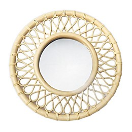 Global Caravan™ 20.25-Inch Round Rattan Wall Mirror