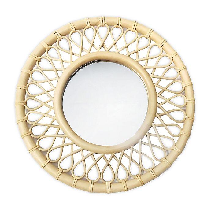Alternate image 1 for Global Caravan™ 20.25-Inch Round Rattan Wall Mirror