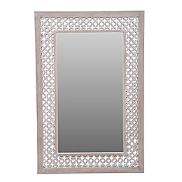 Global Caravan™ Carved 35.75-Inch x 23.75-Inch Wall Mirror in White