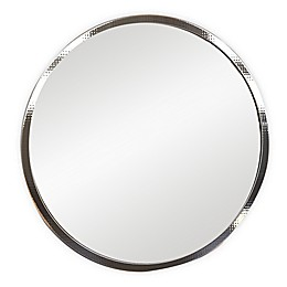 Hammered 24-Inch Round Wall Mirror