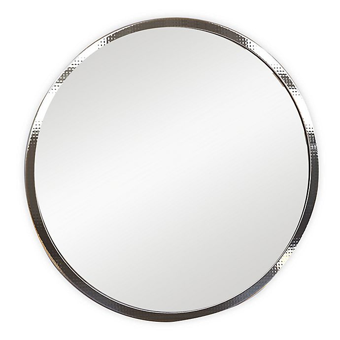 Alternate image 1 for Hammered 24-Inch Round Wall Mirror