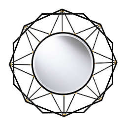Southern Enterprises Winbry Wall Mirror in Black/Gold