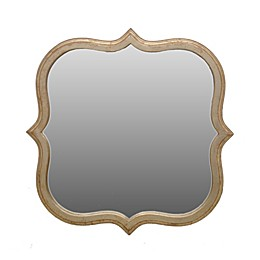 One Kings Lane Open House Hexagonal 22-Inch Wall Mirror in Gold