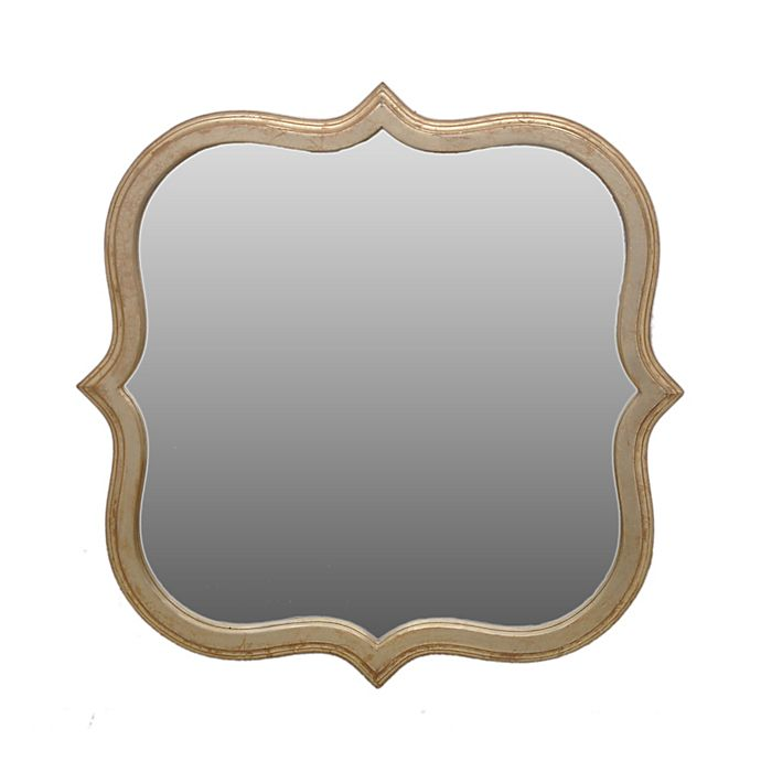 Alternate image 1 for One Kings Lane Open House Hexagonal 22-Inch Wall Mirror in Gold