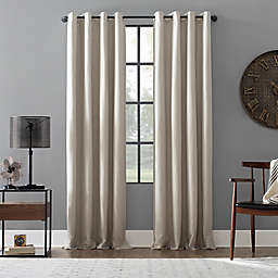 Archaeo® Linen Blend 100% Blackout 95-Inch Grommet Top Window Curtain in Pearl (Single)