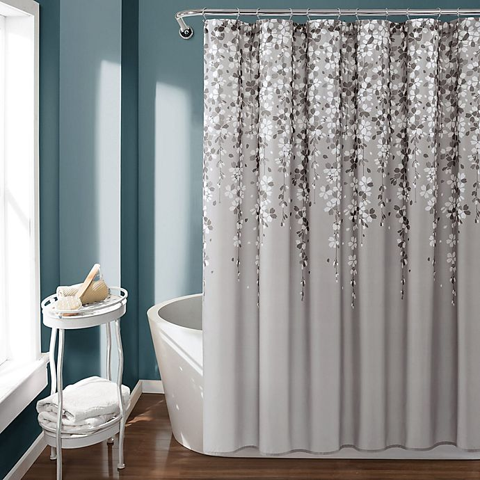 Lush Decor Shower Curtain In Gray | Bed Bath & Beyond