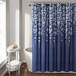 Lush Decor Shower Curtain in Navy