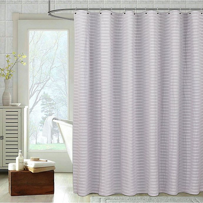 Alternate image 1 for Pereira da Cunha Parker Shower Curtain in White